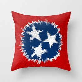Extruded flag of Tennessee Throw Pillow