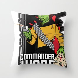 ZOMBIE WORF Throw Pillow