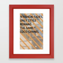 Coco Style Remains Print Framed Art Print
