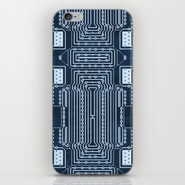 Blue Geek Motherboard Circuit Pattern iPhone Skin