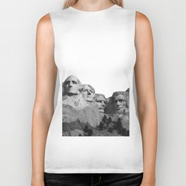 Mount Rushmore National Memorial South Dakota Presidents Faces Graphic Design Illustration Biker Tank
