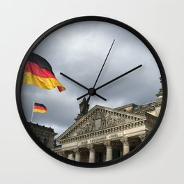 Reichstag in storm Wall Clock