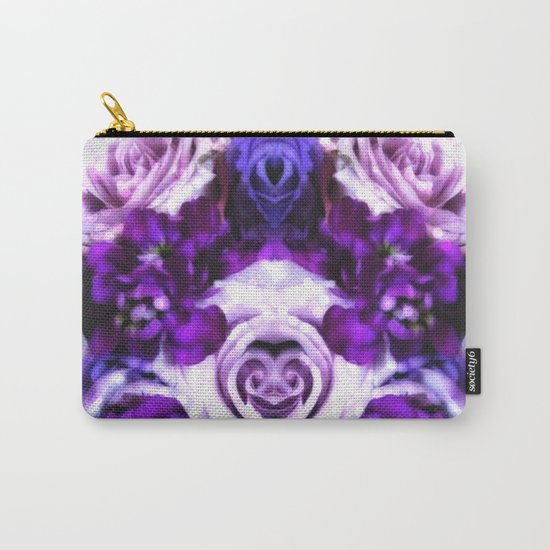 purple pink flowers Carry-All Pouch