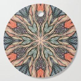 Autumn Leaves Mandala Cutting Board