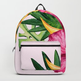 Tropical Hibiscus Summer Bouquet Backpack