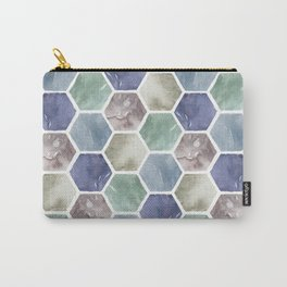 Cold Hexagones Carry-All Pouch