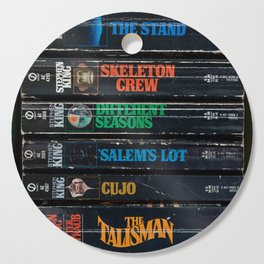 Stephen King Well-Worn Paperbacks Cutting Board