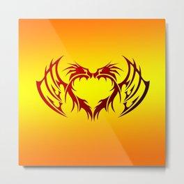 heart winged Metal Print