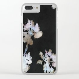 Tropical Palms On Black Background Clear iPhone Case