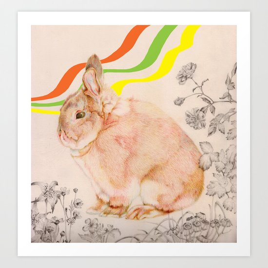 Dedicated to all those bunnies out there Art Print