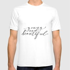 Young and beautiful White Mens Fitted Tee MEDIUM