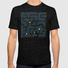RETRO GAME Mens Fitted Tee Tri-Black X-LARGE