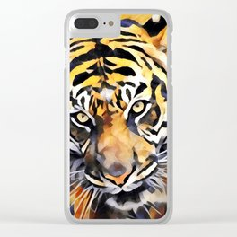 Tiger Face Clear iPhone Case