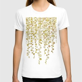 golden string of pearls watercolor 2 T-shirt