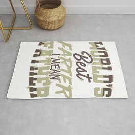 Funny Dad Gift World's Best Farter, I Mean Father Rug