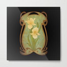 Art Nouveau Flowers Metal Print