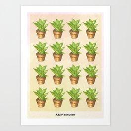Keep Growing Art Print