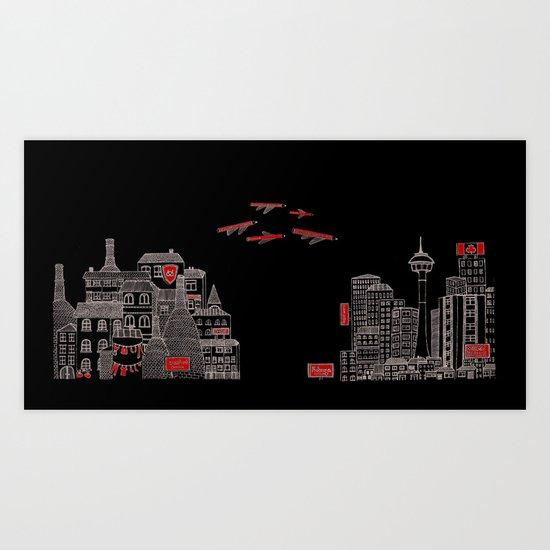 From Stoke to Calgary Art Print
