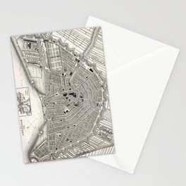 Plan of Amsterdam - Meyers - 1844 Stationery Cards