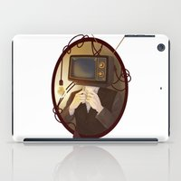 tv iPad Cases featuring TELEVISION by FISHNONES