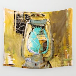 Old Lantern Wall Tapestry