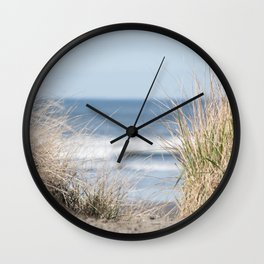 The Beach Beckons    Path To Ocean Shore Wall Clock