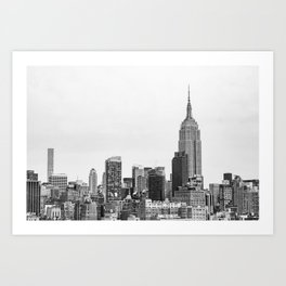 The New York Cityscape City (Black and White) Art Print