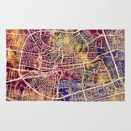 Leeuwarden Netherlands City Map Rug