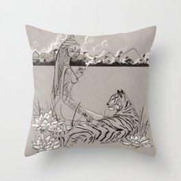 Egyptian Goddess Past Life Throw Pillow