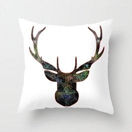 Elk Web Head 1 Throw Pillow
