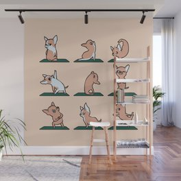 Chihuahua Yoga Wall Mural