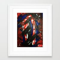 rave Framed Art Prints featuring Rave by Myles Hunt
