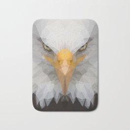 Low Poly Eagle Portrait Bath Mat