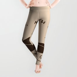 Asheville - The Mountains Are Calling - AVL 10 Brown Leggings
