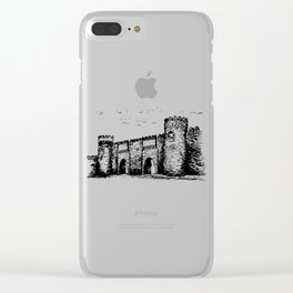 Old Tower Gate Ink Art Clear iPhone Case