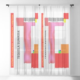 """Cocktail """"T"""" - Tequila Sunrise Sheer Curtain"""