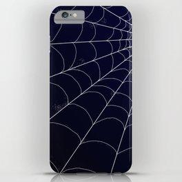 Spiderweb on Midnight iPhone Case