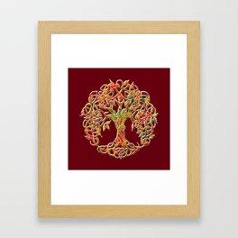 Tree of Life Maroon Framed Art Print