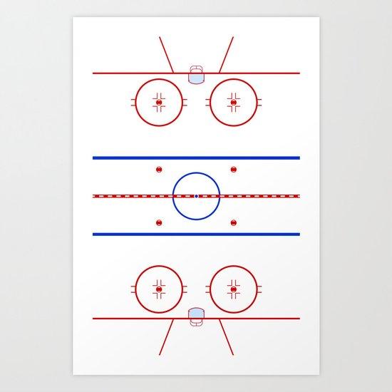 Ice Hockey Rink Diagram Art Print By Waywardtees Society6
