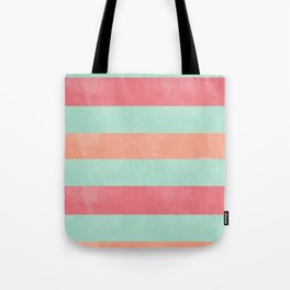Oui Oui Mon Cheri Throw Pillow with Mint and Pink Stripes Tote Bag