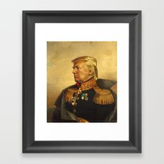 Donald Trump - replaceface Framed Art Print