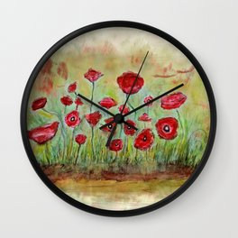 poppy island Wall Clock