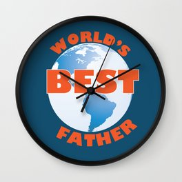 World's Best Father Wall Clock