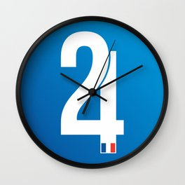 Stamp series - 24 Le mans Wall Clock