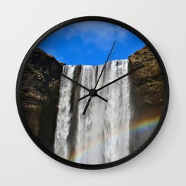 Rainbow loves Waterfall Wall Clock