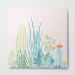 Pastel Botanical Metal Print