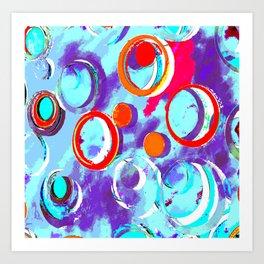 Circles of Many Colors Art Print
