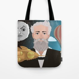 jules verne science fiction retro writer Tote Bag