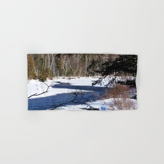 River through Winter Hand & Bath Towel