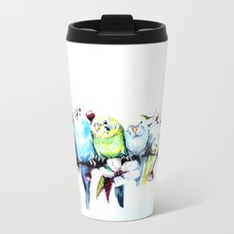 Bloomin' Budgies Metal Travel Mug